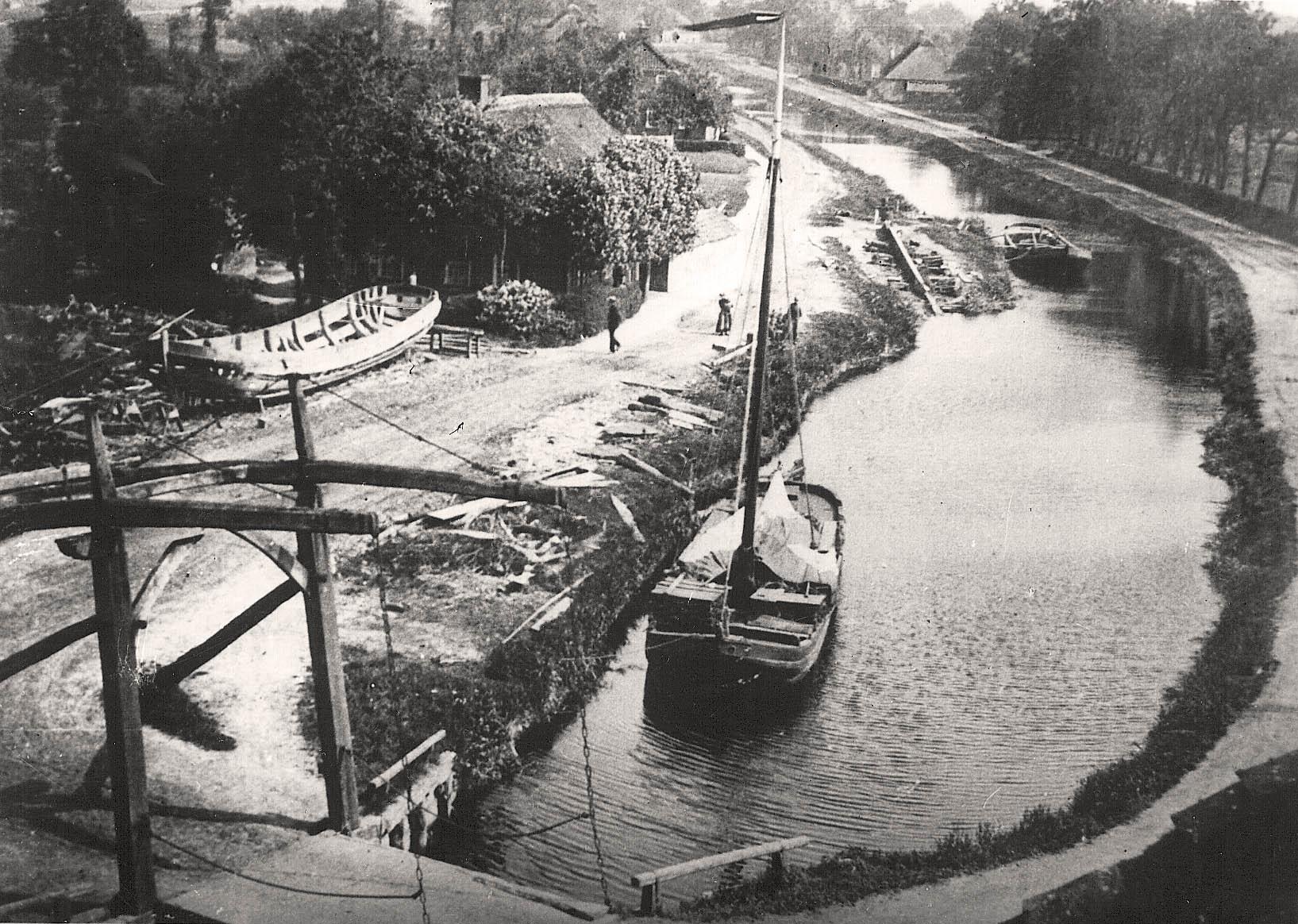 Ansicht auf den Kanal - um 1900