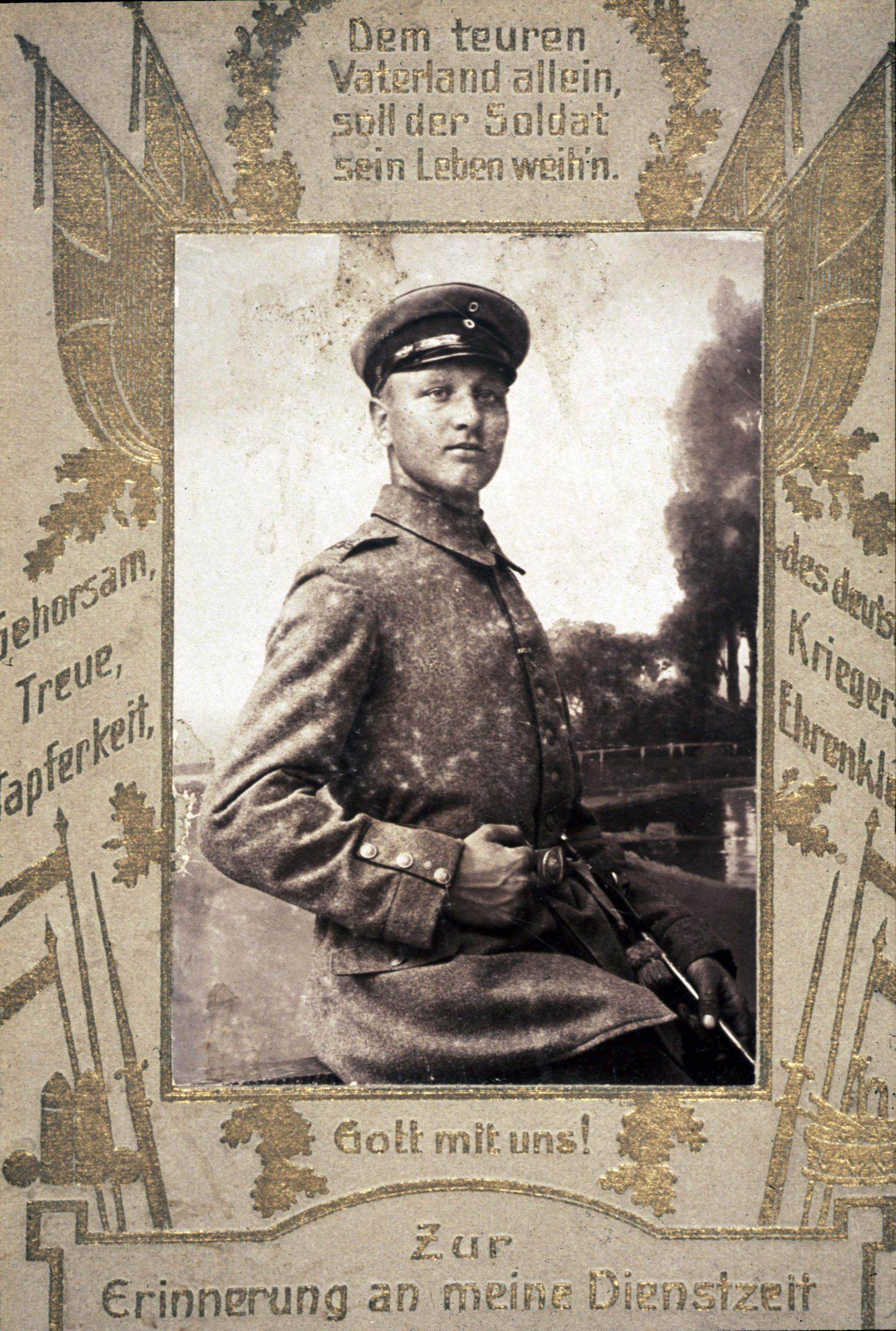 Joh. als Soldat - um 1915