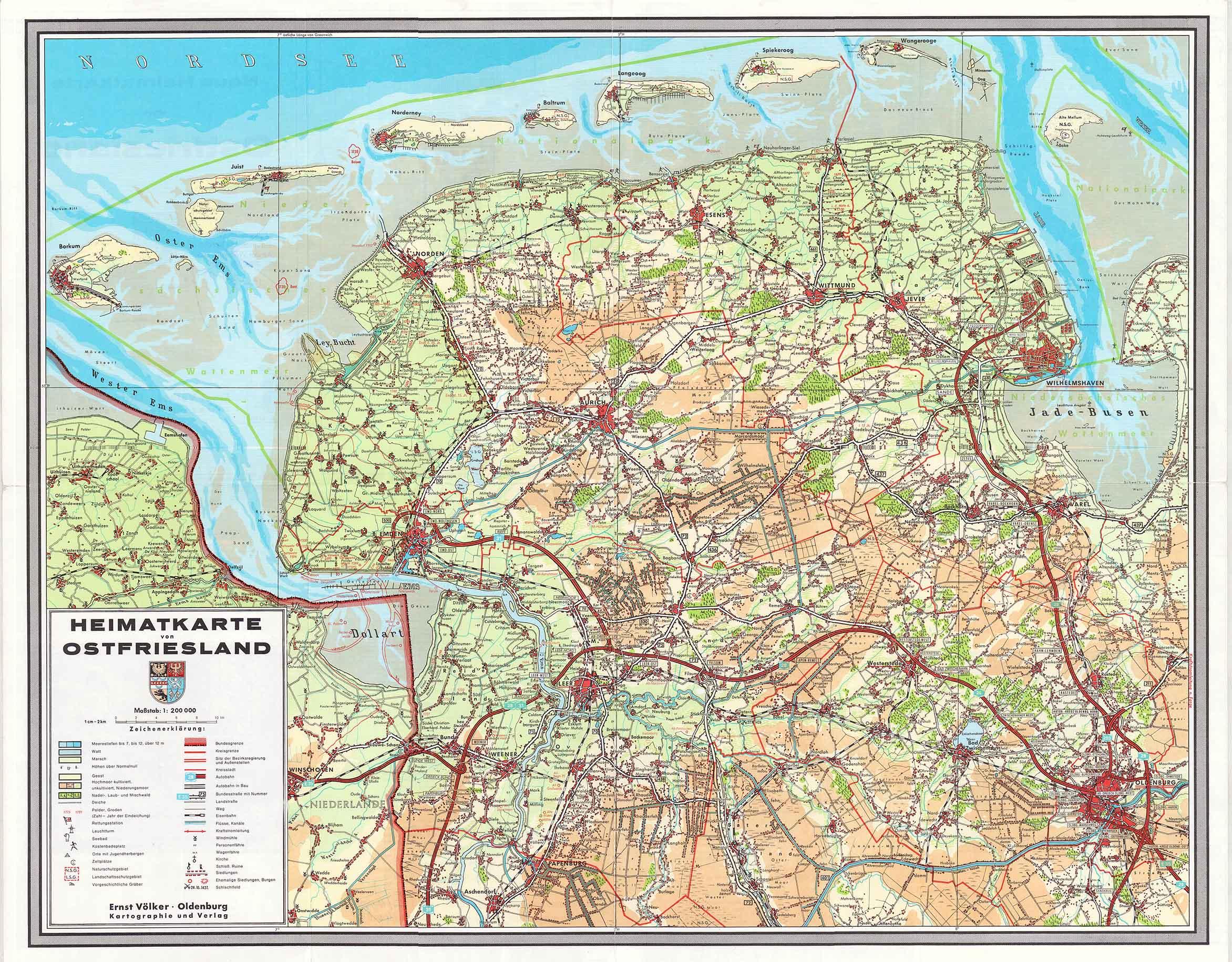 Ostfrieslandkarte